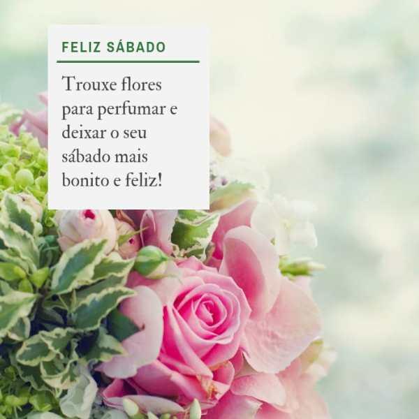 sábado com flores que serve como lembrete do quanto você é especial