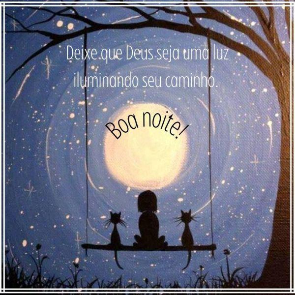 boa noite iluminada por Deus