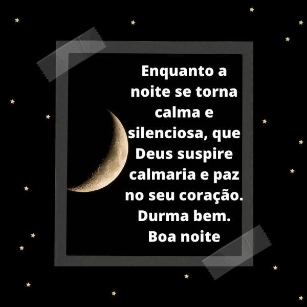 boa noite abençoada com bela lua