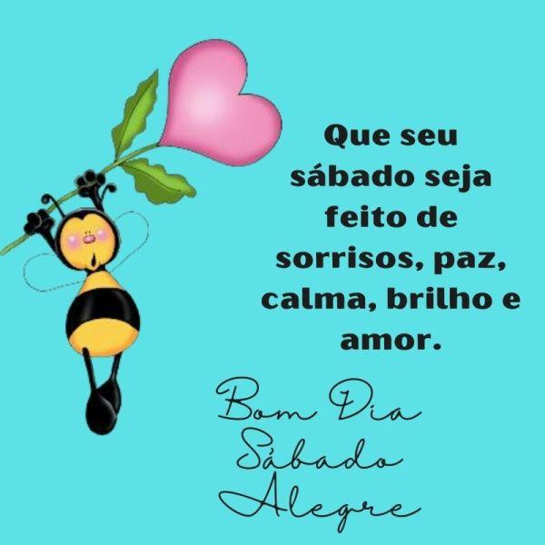 linda abelhinha de bom dia sábado alegre