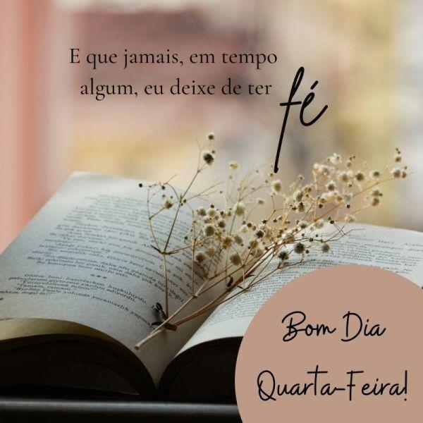 bom dia com fé em Deus bíblia aberta