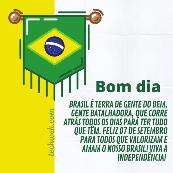 imagens de bom dia da independência do brasil