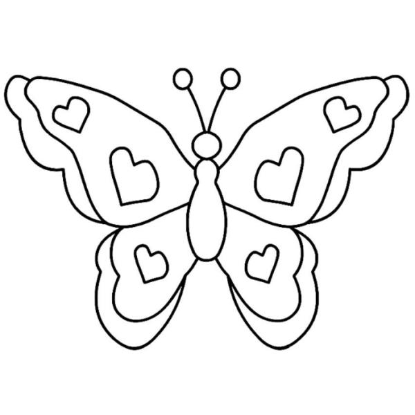 Pinte essa borboleta repleta de amor