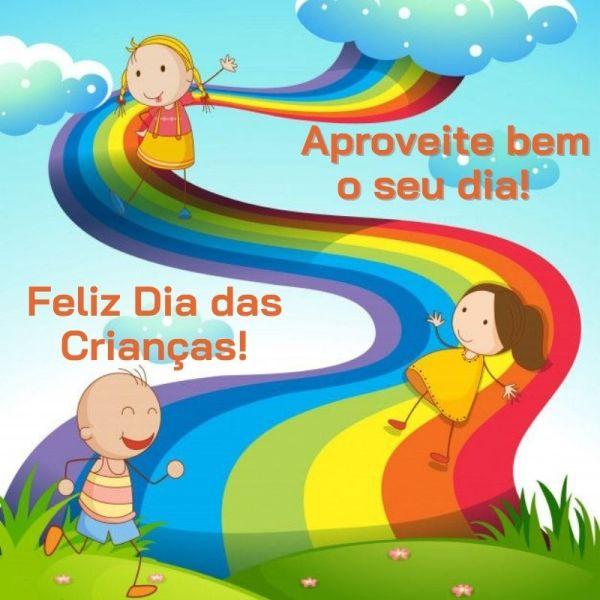 arco-íris dia das crianças