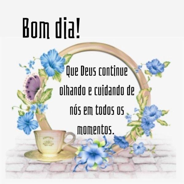 bom dia com Deus com flores e café