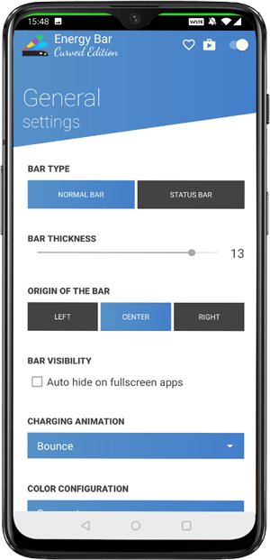 best notch apps- Energy bar