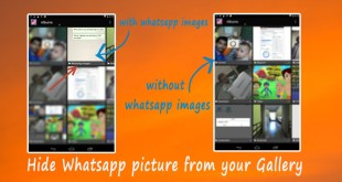 Hide Whatsapp picture from your Gallery