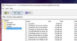 saving files from HFS explorer