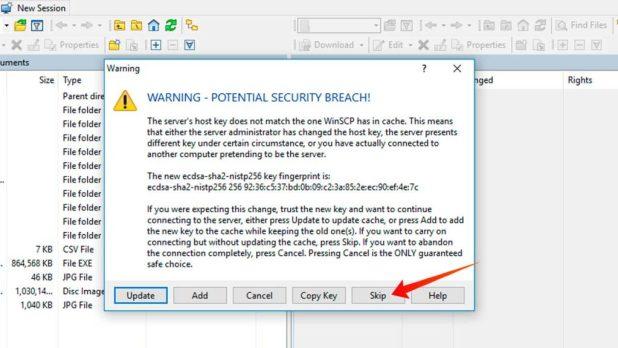 Windows-GUI-ssh-ingore-warning