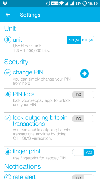 zebpay account security