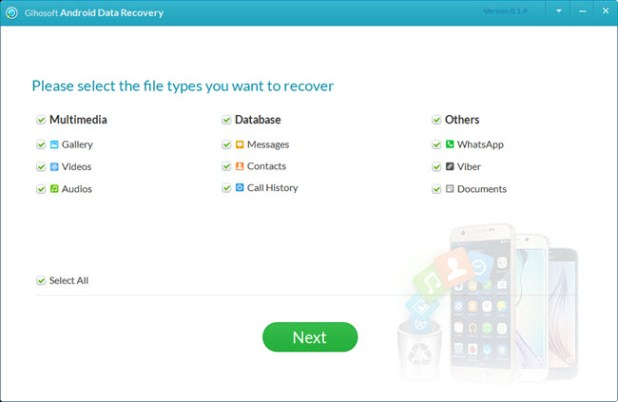 android data recovery tool - gihosoft