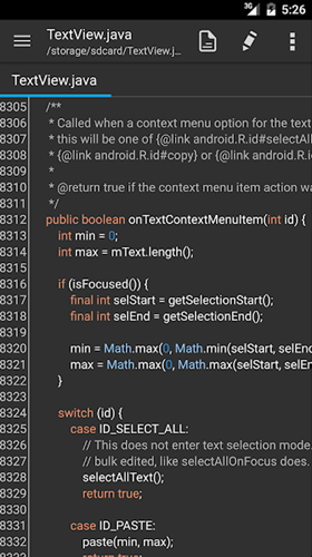 code editors for android - QuickEdit