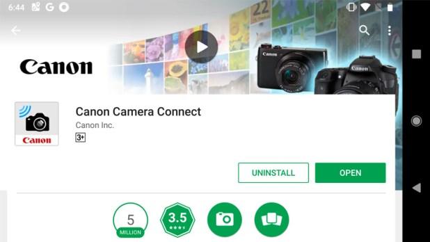 Canon Camera Connect app