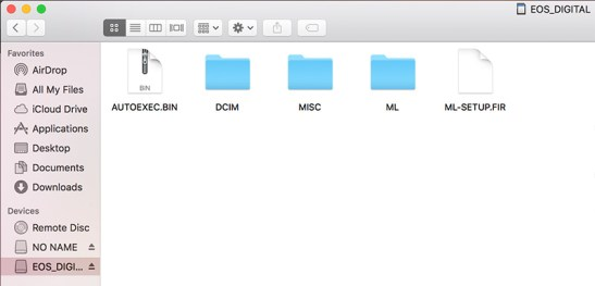 copy-paste Magic Lantern files to your SD card.