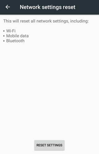 android wifi connectivity fix - reset settings