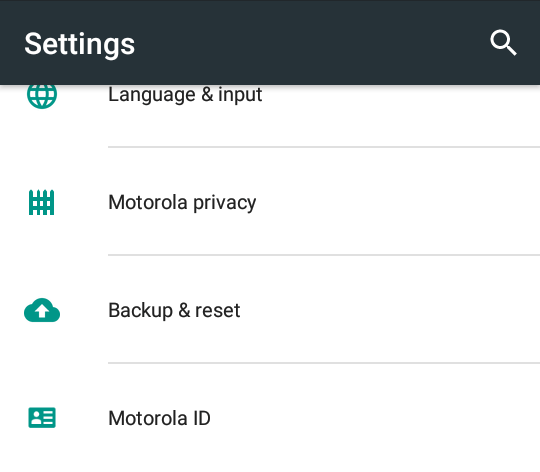 android wifi connectivity fix - select backup and reset