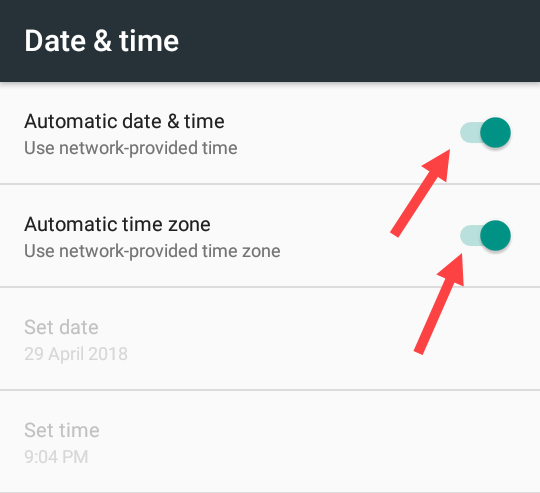 android wifi connectivity fix - turn on automatic time