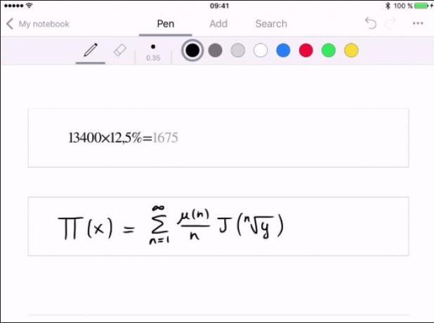 nebo handwriting notes app