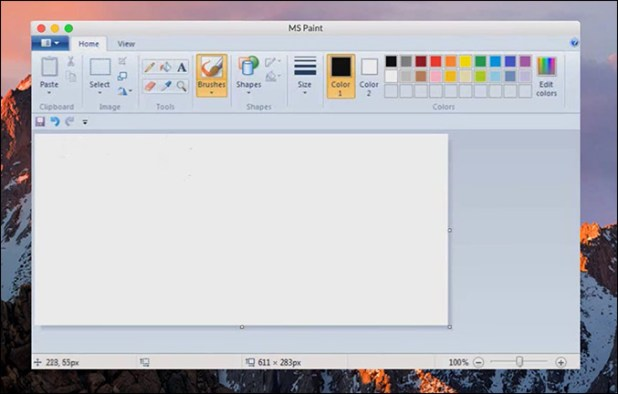 MS Paint on Mac OS using Play On Mac
