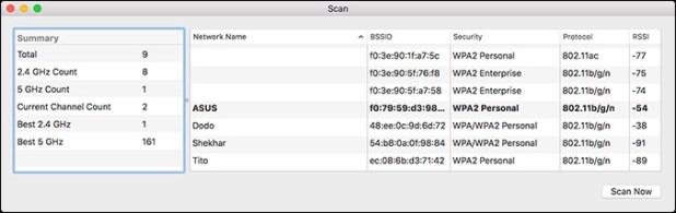 Wireless Diagnostics macOS