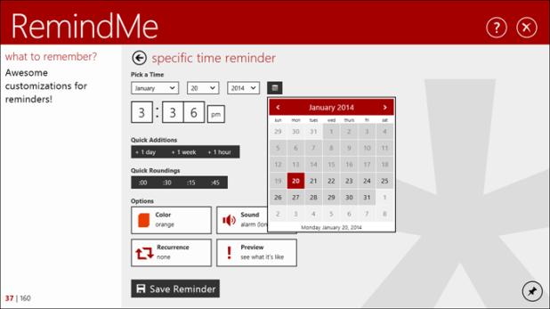 remindme for windows 10
