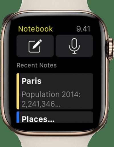 notebook app screenshot