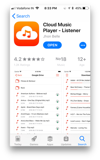 app store cloud player