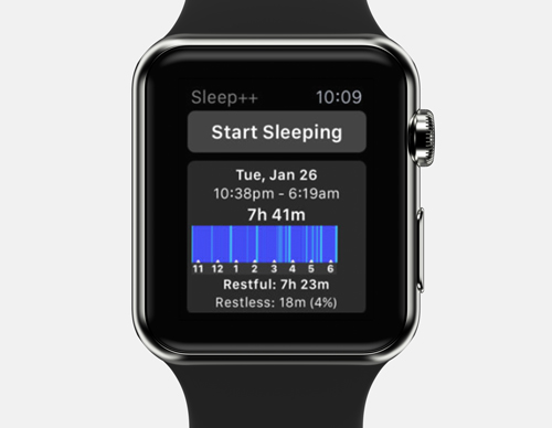 sleep ++ start sleeping-apple watch sleep tracker app