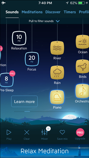 white noise apps for iphone- relax melodies