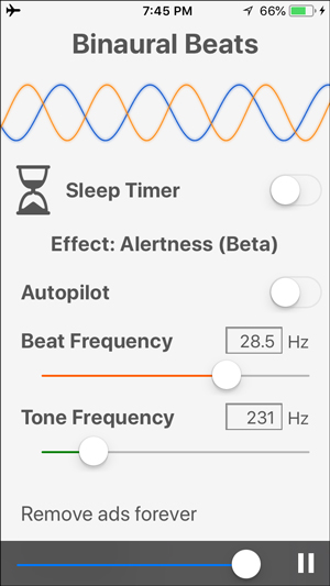 white noise apps for iphone- binaural beats
