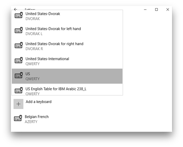 Dell keyboard not working- AZERTY settings
