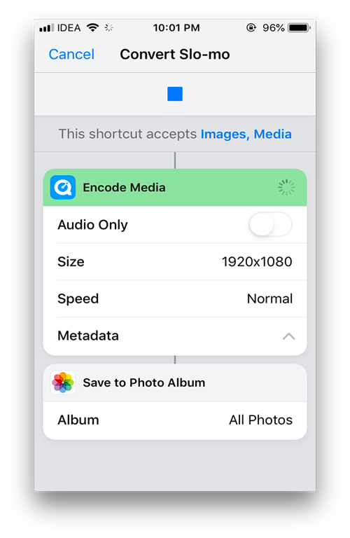 convert slow-mo- Useful shortcuts for apple's shortcut app
