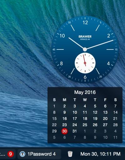 uBar calendar app