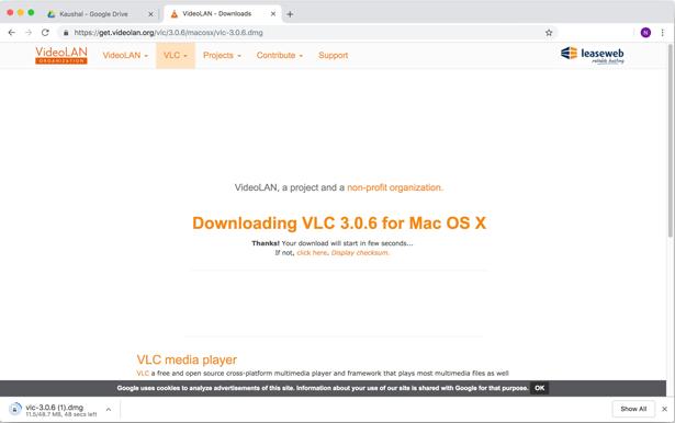vlc downloading