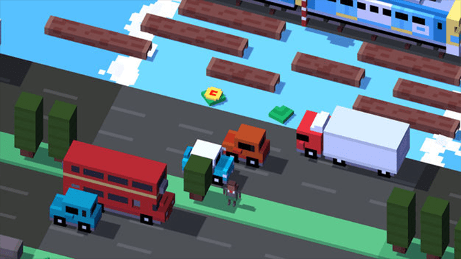 best apple tv games- crossy roads