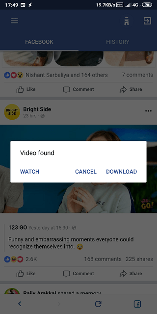 download facebook videos android 10