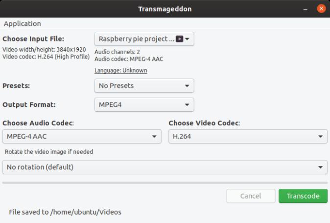 transmageddon video compressor for linux