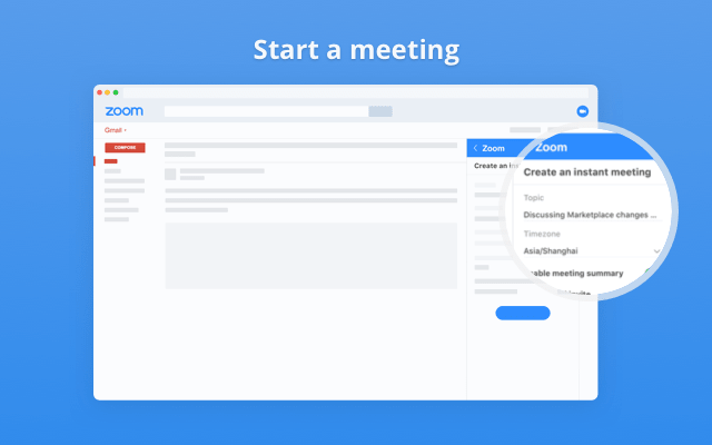 scheduling meetings in gmail with zoom