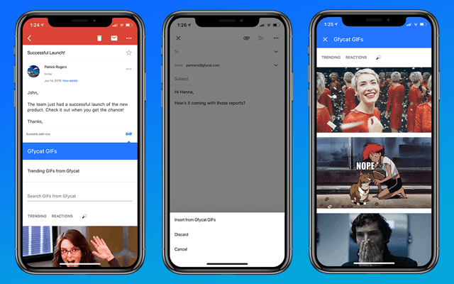 adding gif in gmail mobile app