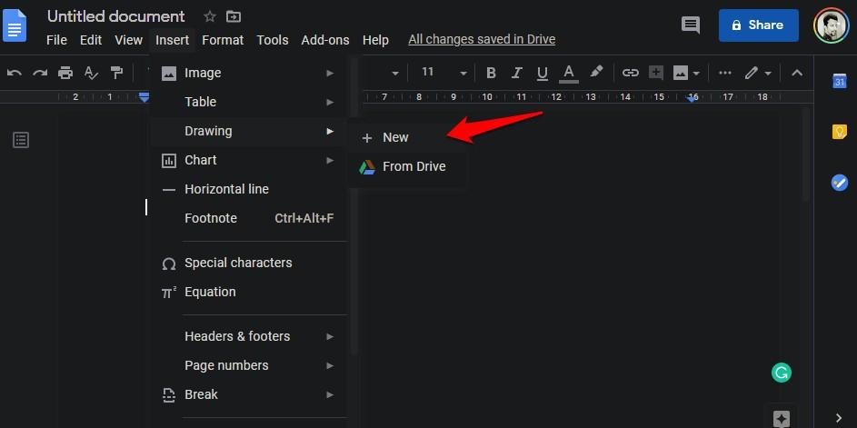 creating watermark in google docs