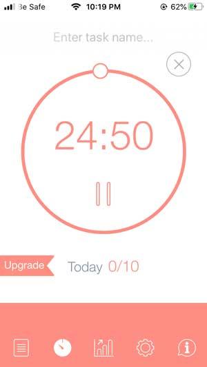 be fcosued pomodoro timer