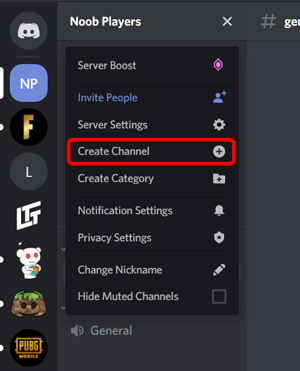 create channel on discord for AFK