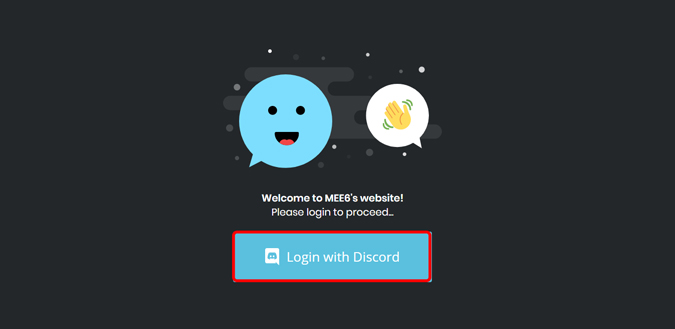 login with discord on mee6