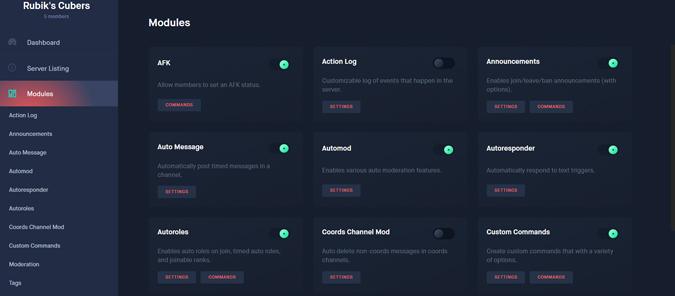 image showing modules of Dyno Bot