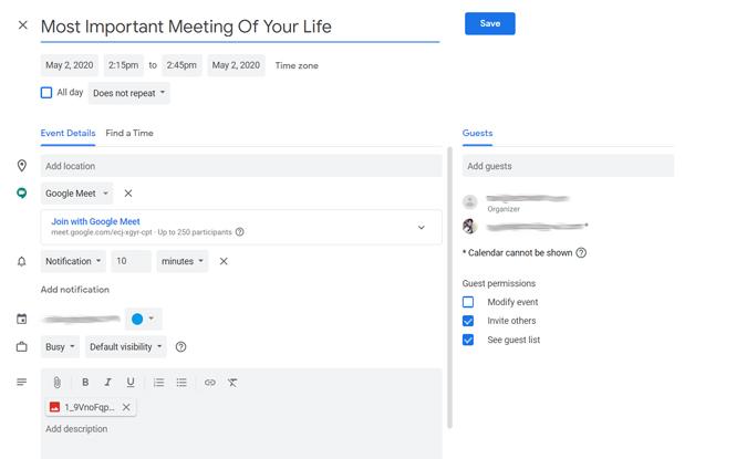 Schedule Meetings in Google Calendar
