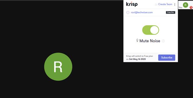 canceling noise using krisp
