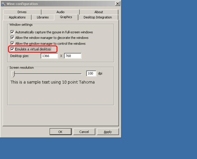 winecfg-emulate-desktop-environment