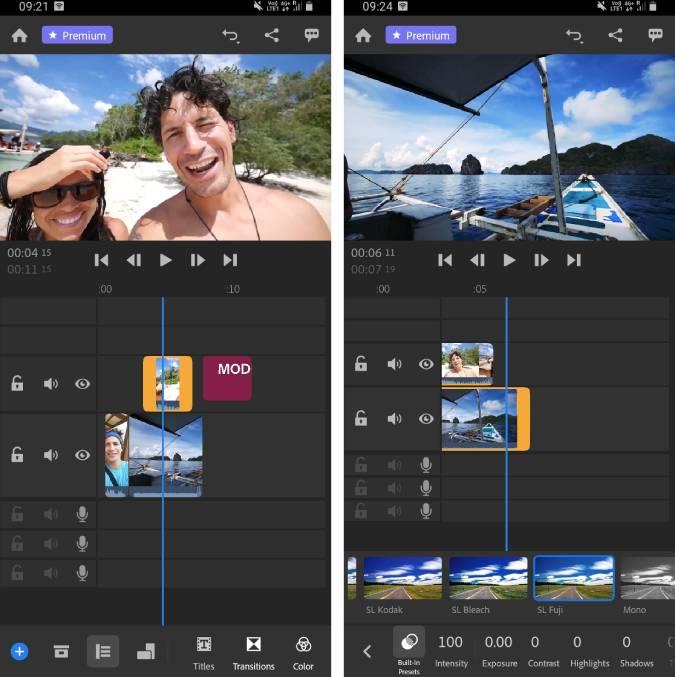 adobe-premiere-rush - video editor for vlogs