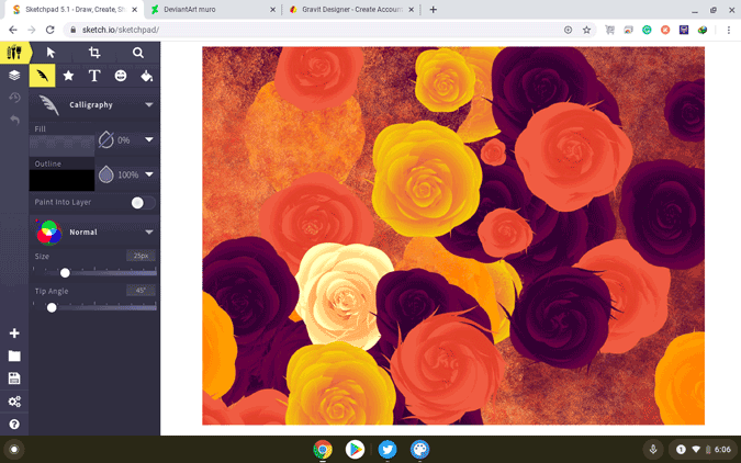 using sketchpad on chromebook