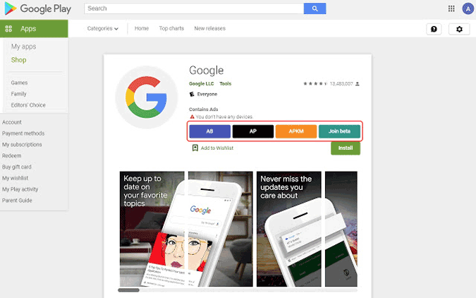 toolbox for Google Play Store